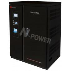 Стабилизатор напряжения N-Power Eco 30000SP3 ─ сервоприводный трехфазный 30 кВА